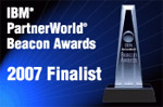 2007 IBM Beacon Award Finalist for Best Industry Optimized Solution