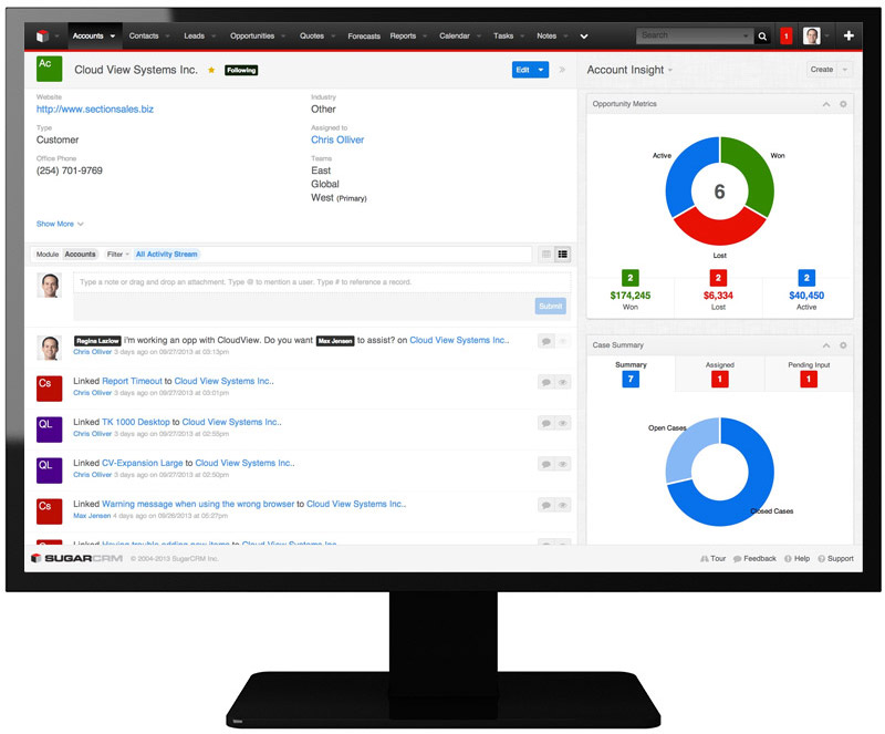 case study on crm call center